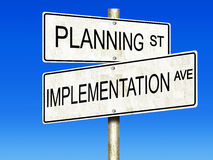 Planning and Implementation Stock Image