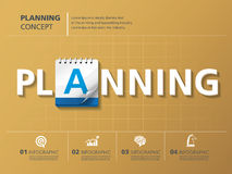 Planning. Info graphic design, planning, business, calendar Stock Images