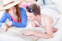 Planning a journey Stock Image