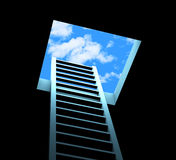 Planning Ladder Means Break Free And Aspirations. Planning Escape Showing Break Free And Step vector illustration