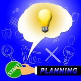 Planning Light Represents Objectives And Aspirations 3d Illustra. Planning Light Representing Objectives And Aspirations 3d Illustration Stock Image