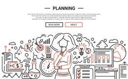 Planning - line design website banner temlate Royalty Free Stock Images