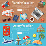 Planning Luxury Vacation Concept Royalty Free Stock Photography