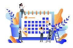 Planning, management, deadline and time management business concept. Vector flat illustration royalty free illustration
