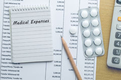 Planning Medical expenses Royalty Free Stock Image
