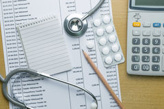 Planning monthly budget. Finance about health concept Stock Image