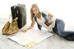 Planning My Trip Royalty Free Stock Photos