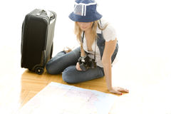 Planning my trip Stock Images