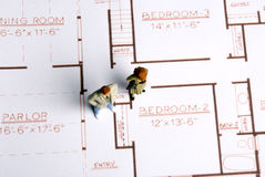 Planning new house Stock Photo