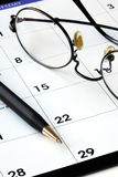 Planning the new month from a calendar Royalty Free Stock Image