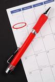 Planning New Years Day Stock Images