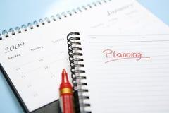Planning op volgend jaar Stock Afbeelding