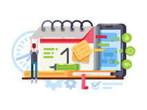Planning and organization Stock Image