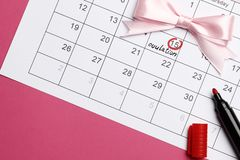 Planning of pregnancy royalty free stock images