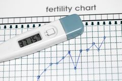 Planning of pregnancy. The fertility chart. Selected focus royalty free stock photo