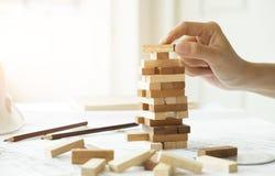 Planning, risico en strategie van projectleiding in zaken Royalty-vrije Stock Foto