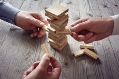 Planning, risico en teamstrategie in zaken Royalty-vrije Stock Foto