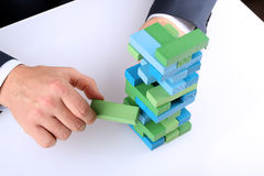 Planning, risk and strategy in business, businessman getting out Royalty Free Stock Images
