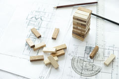 Planning, risk and strategy of project management in business Royalty Free Stock Images