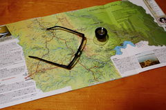Planning a road trip in Africa Royalty Free Stock Images