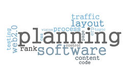 Planning software word cloud Stock Image
