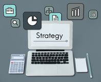 Planning Strategy Marketing Startup Icon Concept stock illustration