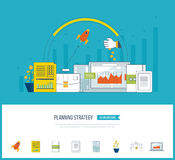 Planning strategy and project management concept. Investment growth. Planning strategy, financial strategy, project management concept. Investment growth Royalty Free Stock Photos
