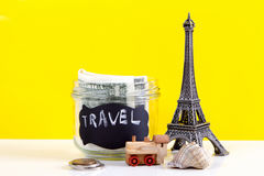 Planning summer vacation, money budget trip concept. Stock Image