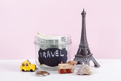 Planning summer vacation, money budget trip concept. Royalty Free Stock Image