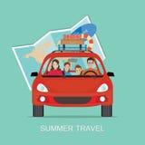 Planning summer vacations vector illustration