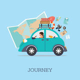 Planning summer vacations Royalty Free Stock Photo