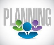 Planning team sign illustration design graphic Royalty Free Stock Photos