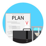 Planning and time management icon Stock Photo