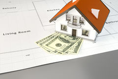 Planning to build a house with money Stock Images