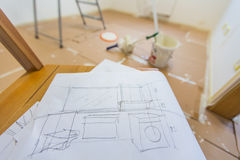 Planning to renovate home royalty free stock image