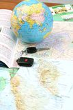 Planning to travel. Travelling overseas required proper research and planning Royalty Free Stock Images
