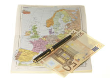 Planning travel expenditures Royalty Free Stock Images
