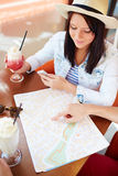 Planning travel route Stock Image