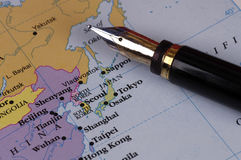 Planning a trip. To asia stock photos