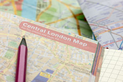 Planning trip to London Stock Images
