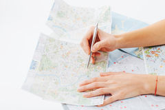 Planning a trip to Rome Royalty Free Stock Photo