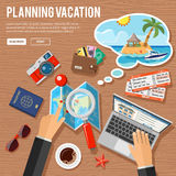 Planning Vacation Concept Stock Photo