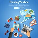 Planning Vacation Concept Stock Image