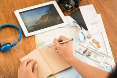 Planning vacations Royalty Free Stock Photography
