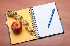 Planning van een dieet Stock Foto's