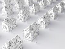 Planning voor een nieuw huis Stock Afbeelding