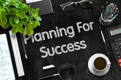 Planning voor Succes op Zwart Bord het 3d teruggeven Stock Afbeeldingen