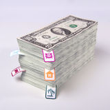 Planning waste of money Royalty Free Stock Image