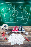 Planning win the match in soccer Stock Photography