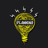 Planning word bulb design concept Royalty Free Stock Photo